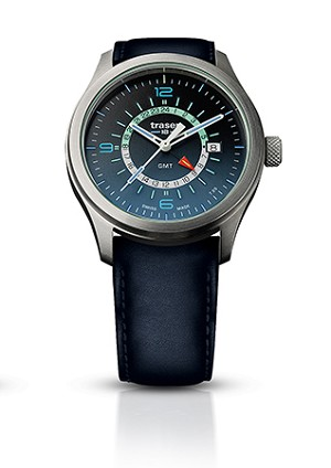 Aurora GMT Blue with Leather Strap