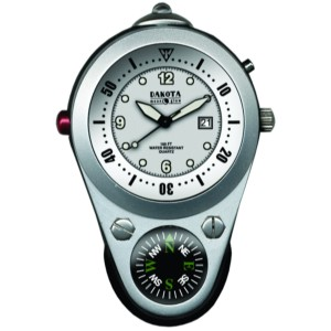 Outdoor Clip, White Dial, Solid Barstock Aluminum Case
