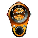 Outdoor Clip II, Orange Dial, Orange/Black Aluminum Case