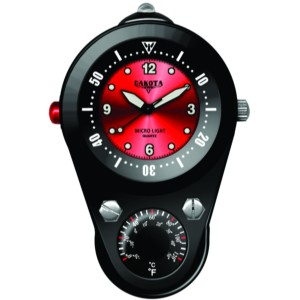 Outdoor Clip II, Red Dial, Black Aluminum Case