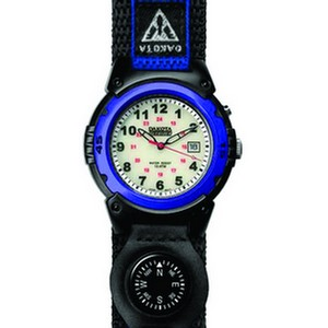 Outrider Super E.L., White Dial, Blue Case, Nylon Strap