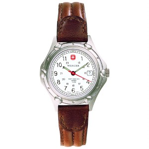 Standard Issue, White Dial, Brown Leather Strap, Ladies