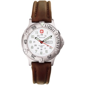 Avalanche, White Dial, Brown Leather Strap, Ladies