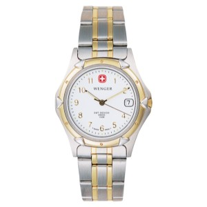Standard Issue, White Dial, 18K PVD Gold Plated Bracelet