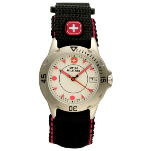 Extreme II, Small, White Dial, Red Accents, Black Strap