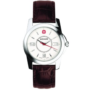 Alpine Winter, White Dial, Brown Leather Strap