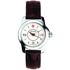 Alpine Winter, White Dial, Brown Leather Strap, Ladies