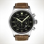 Szanto Series 2600<br />Leather Strap - Taupe with Cream Stitching