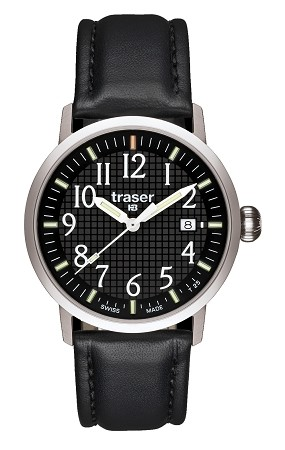 Classic Basic Black with Black Leather Strap
