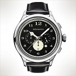 Szanto Series 2400<br />Leather Strap - Black with Black Stitching